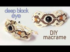 Macrame bracelet tutorial: The deep black eye - Beautiful handmade craft - YouTube