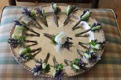 Lavender Boutonnières