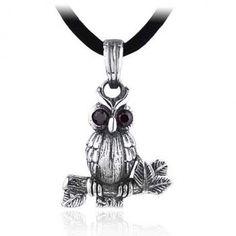 Lovely Owl Silver Pendant For Men