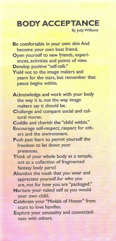 Accept your body... some of these are hard!