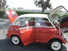 Bid for the chance to own a 1958 BMW Isetta 600 at auction with Bring a Trailer, the home of the best vintage and classic cars online. Bmw Isetta, Ground Transportation, Microcar, Miniature Cars, Fiat 600, Benz Car, Exotic Sports Cars, Vintage Trucks, Small Cars