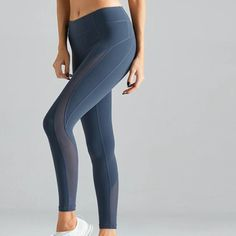 mesh layer exercise pants|workout pants|yoga pants Blue Yoga Pants, Yoga Pants Outfit, Beautiful Prom Dresses, Keep Fit, Go Shopping, Workout Pants, Different Styles, Active Wear, Layers