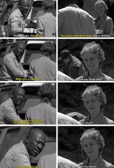 "The Walking Dead Season 6 Episode 1 ""First Time Again""  Morgan Jones and Carol"
