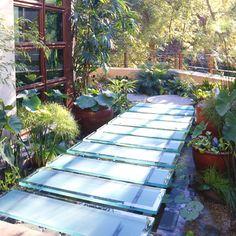 flower garden ideas and designs garden design ideas free small garden ideas and designs Pond Design, Garden Design, Glass Walkway, Expansion Joint, Sensory Garden, Glass Floor, Small Gardens, Water Features, Garden Bridge