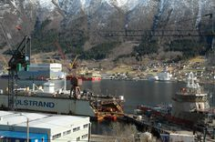 Ship yards in #Tomrefjord, Norway