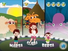 Educational game introducing toddlers and young children to animals of the farm, ocean and jungle.