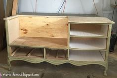 french dresser turned bench, outdoor furniture, painted furniture, repurposing upcycling