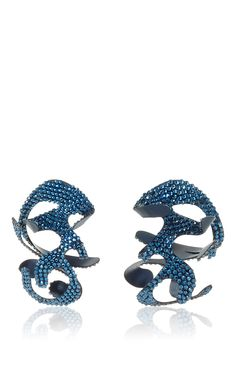 Roxanne Assoulin For Rosie Assoulin Swarovski Large Sculptural Earrings by ROSIE ASSOULIN Now Available on Moda Operandi