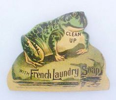 French Laundry Soap Trade Card with Frog