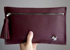 Quality Sewing Tutorials: Tassel Leather Clutch tutorial from Fashionrolla