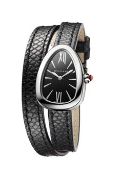 Bulgari Serpenti snake-inspired timepieces have long been a jewelry collector's dream, and the newest version is the most versatile and wearable yet. Entirely customizable, this watch is available in tons of case and dial options, as well as multi-color interchangeable straps, totaling over 300 possible combinations—so you can truly feel like you own a limited edition.