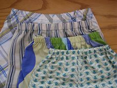pillowcase pajama shorts... for little boys here but could probably work for women too.