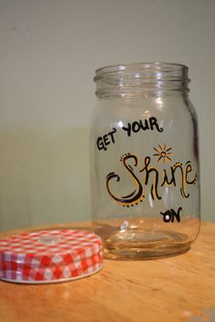 mason jar drinking cup with Florida Georgia Line - Get Your Shine On