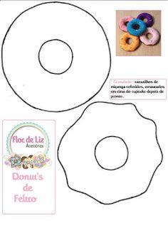 Artesanato e Moldes para Imprimir: Moldes de Comidinhas e Docinhos em feltro ou Tecido.