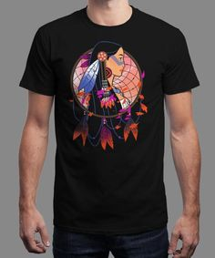 """""""Colors of the Wind"""" is today's £8/€10/$12 tee for 24 hours only on www.Qwertee.com Pin this for a chance to win a FREE TEE this weekend. Follow us on pinterest.com/qwertee for a second! Thanks:)"""