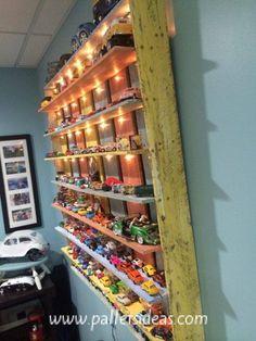 Pallets Kids Toys Shelf  #toysshelf #palletshelf #palletideas #palletprojects #palletrecycled