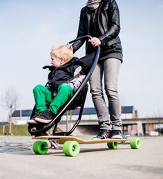 The Longboard Stroller: The Future Of Kids And Mobility. The Longboard  Stroller: Because Every Kid Deserves To Eat Pavement At The Hands Of A  Parent Who ...