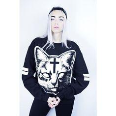 Ivory Jar Holy Cat Women's Sweater, £37.99