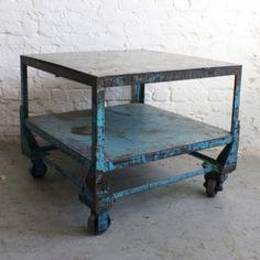 Vintage industrial trolley