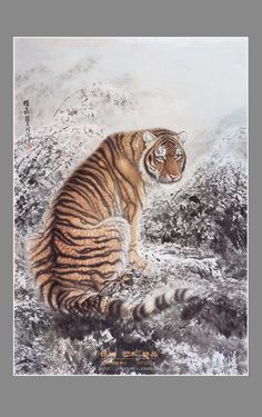 Gongbi Painting - Chinese Traditional Painting with Meticulous Detail - China culture Qiu Ying, Shen Quan #AnimalArt #Art #Tiger