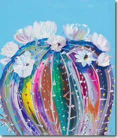 Ghost Flower, Starla Halfmann, oil, print, giclee, fine art, skyline, flowers, cactus, desert