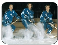 Gordie,Marty and Mark Howe of the houston Aeros :)