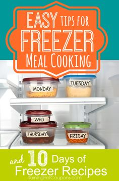 Easy Tips for Freezer Meal Cooking/Planning + 10 Days of Freezer Meal Recipes!