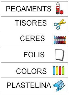 Cartells per classificar el material Classroom Organization, Classroom Decor, Classroom Management, Pre School, Back To School, Behavior Rewards, Flipped Classroom, Class Decoration, Spanish Language