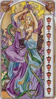 10 de coupes - Tarot art nouveau par Antonella Castelli