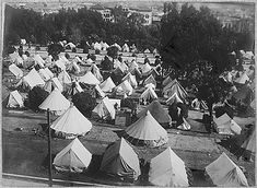 San Francisco Earthquake of 1906: Jefferson Square refugee camp.