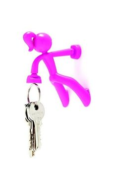 Magnetic Strong Girl Key Holder and Hook