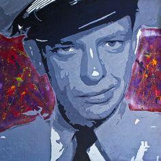 "Saatchi+Online+Artist+Jeff+Rife;+Painting,+""Fife+on+Red""+#art"