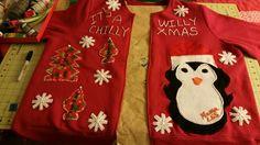 Ah, made chilly Willie  ugly  Christmas sweatshirt  for my niece  @●<:0) hohoho!