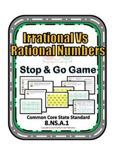 Irrational vs Rational Numbers Stop & Go Game