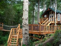 Treehouse Design Ideas That Are Nice Than Your House. From simple tree house plans for kids to the big ones for adult that you can live in. If you're looking for tree house design ideas.