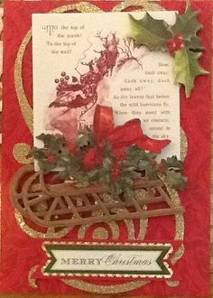 Made from Anna Griffin's Christmas Card kit.
