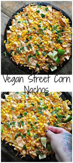 Vegan Street Corn Nachos - Rabbit and WolvesYou can find Vegan recipes and more on our website.Vegan Street Corn Nachos - Rabbit and Wolves Veggie Recipes, Mexican Food Recipes, Whole Food Recipes, Dinner Recipes, Drink Recipes, Pasta Recipes, Italian Recipes, Chicken Recipes, Mexican Desserts