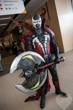 Spawn by Etienne Beaulac. View more EPIC cosplay at http://pinterest.com/SuburbanFandom/cosplay/...