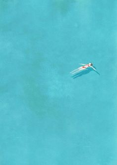 Illustration | Belhoula Amir aka Cosmosnail: Alone Illustration Series - Alone (swimming pool) / 8