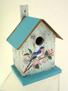 Metal Roof Bluebird Bird House