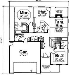 - 41626DB floor plan - Main Level