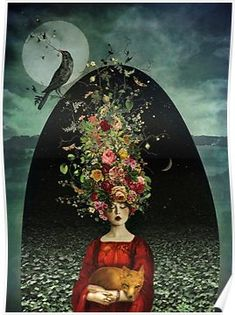 The Ballad of Two Moons - surreal art of Marta Orlowska Art And Illustration, Art Amour, Art Fantaisiste, 3d Fantasy, Moon Art, Pics Art, Whimsical Art, Surreal Art, Oeuvre D'art