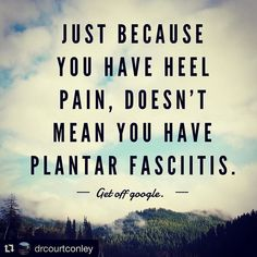 We are medical providers for a reason. Come to us first - the right ones can help you in the right direction.   #getmatchfit #getafterit   #Repost @drcourtconley  Right?! Patient referred to me today for 'chronic plantar fasciitis'. First rule....trust your assessment.  Trust your knowledge.  Don't put your stock in the 'specialists' diagnosis the MRI the x-ray etc.  They are coming to see you because they aren't better.  Hence...all the previous 'dx' and treatment goes out the window.  Look…