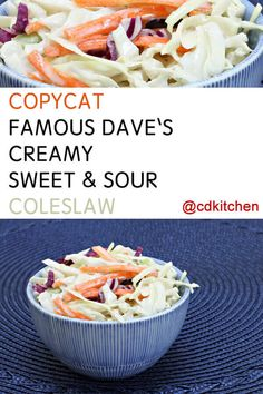 Made with red and green cabbage, carrot, Miracle Whip salad dressing, sugar… Horseradish Coleslaw Recipe, Healthy Coleslaw Recipes, Best Coleslaw Recipe, Horseradish Recipes, Sweet And Sour Coleslaw Recipe, Salad Recipes, Optimum Nutrition Whey, Nutrition Data, Recipes