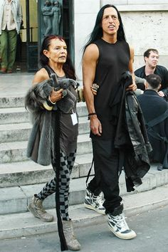 rick owens and michele lamy: He went to a trade-tech school in LA. Scorpio.... I would give my left kidney to work for him...