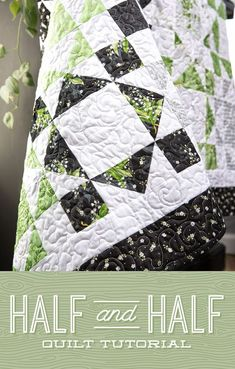 Jenny takes half square triangles and cuts them in half in her Half and Half Quilt tutorial! This quilt is wonderful for the home and easy to DIY! Missouri Star Quilt Pattern, Missouri Quilt Tutorials, Quilting Tutorials, Quilting Projects, Quilting Ideas, Craft Projects, Layer Cake Quilt Patterns, Layer Cake Quilts, Star Quilt Patterns