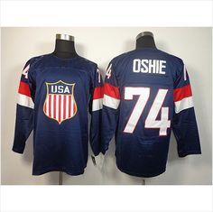 8bdca2ca52c76b 2014 Olympic 74 TJ Oshie USA Jersey Sochi Winter Team USA Ice Hockey Jersey  Ice Hockey
