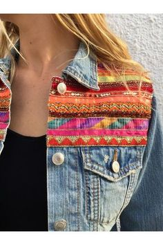 2c4bc17fb1 7 mejores imágenes de chaqueta de mezclilla bordada