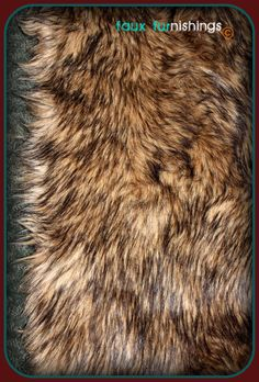 FAUX FUR Coyote / Wolf Skin Plush Faux Animal Skin Pelt Rug Accent Throw Area Rug 40x60 New. $89.00, via Etsy.