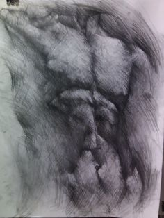 torso-charcoal on paper,50x70